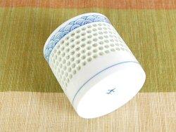 画像3: 【有田焼】水晶彫青海波 ロックカップ